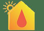 icone eau chaude solaire