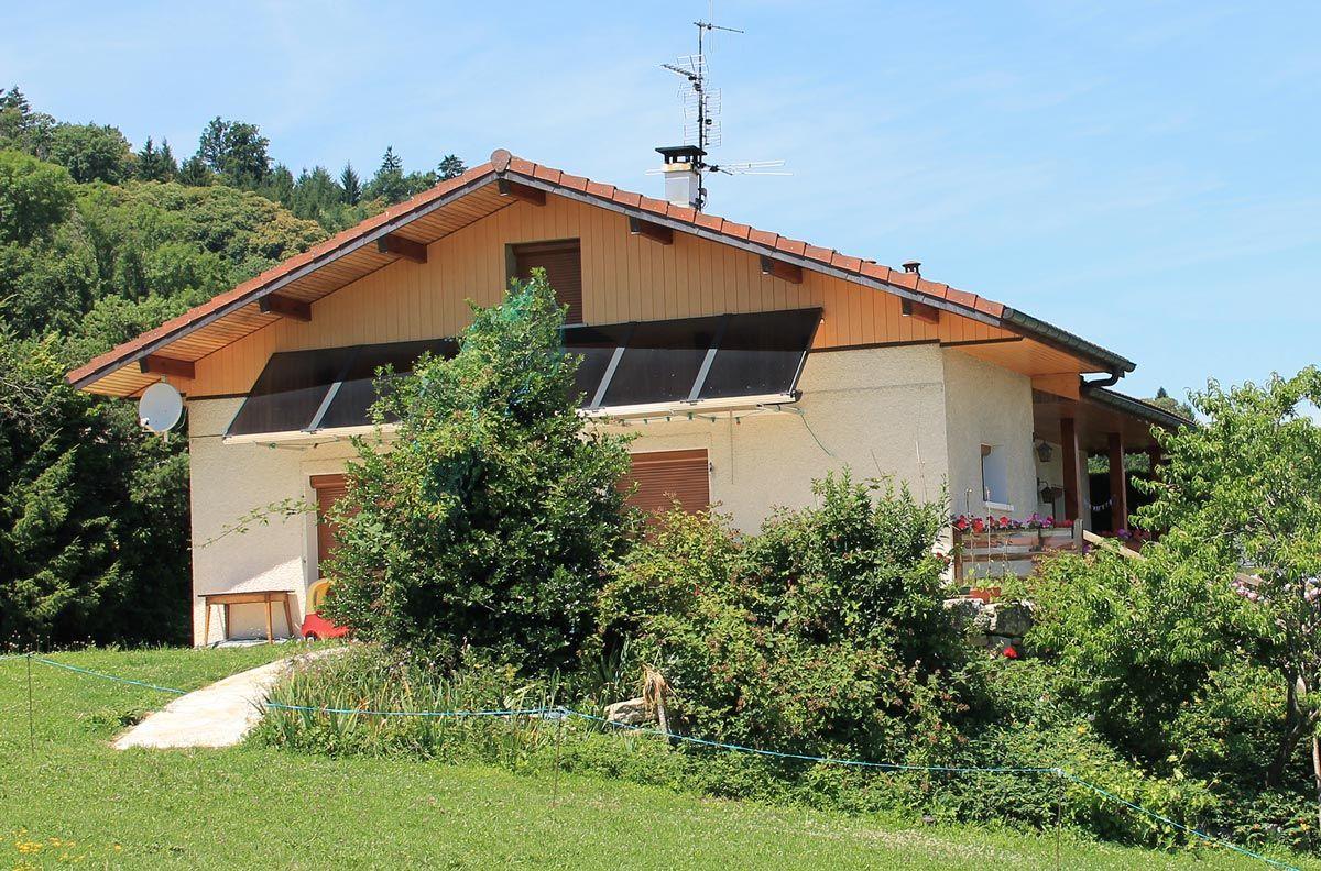 Panneau solaire thermique facade