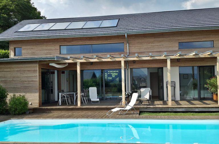 Panneau solaire thermique intégré-toit
