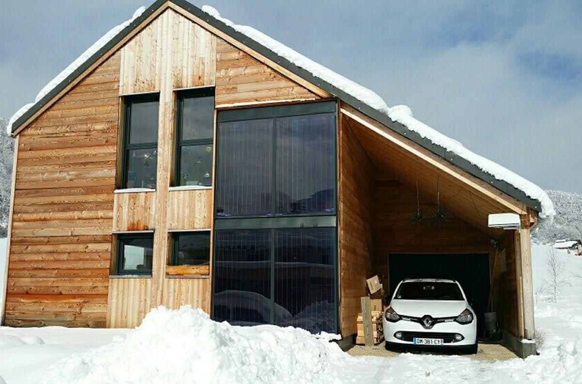 panneau solaire thermique intégré-façade