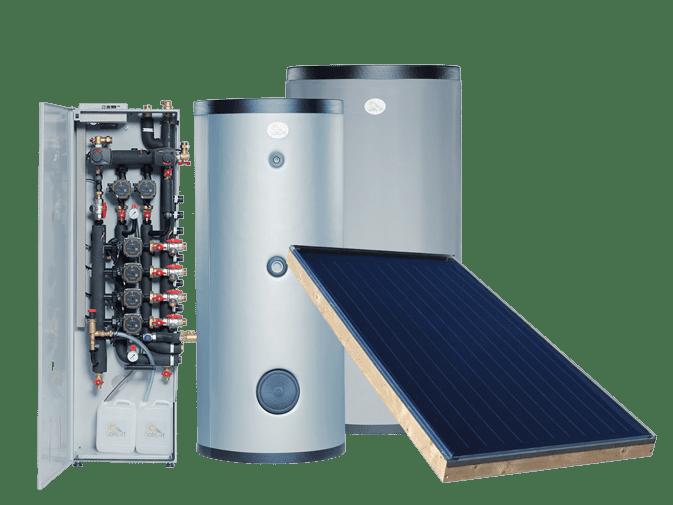 installation d'un chauffage solaire Solisart pour 4 zones de chauffages