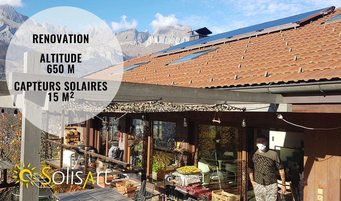 chauffage solaire Solisart à Sallanches