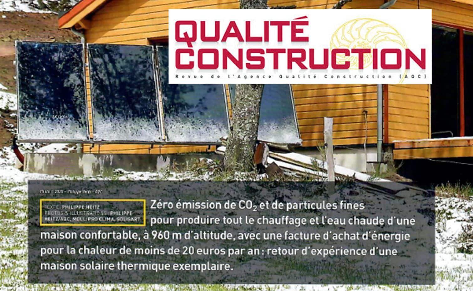 autonomie solaire dans construction qualité